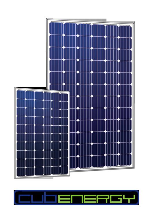 Modules photovoltaïques de différentes puissances.